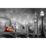 Fototapet Bus on Westminster Bridge 697