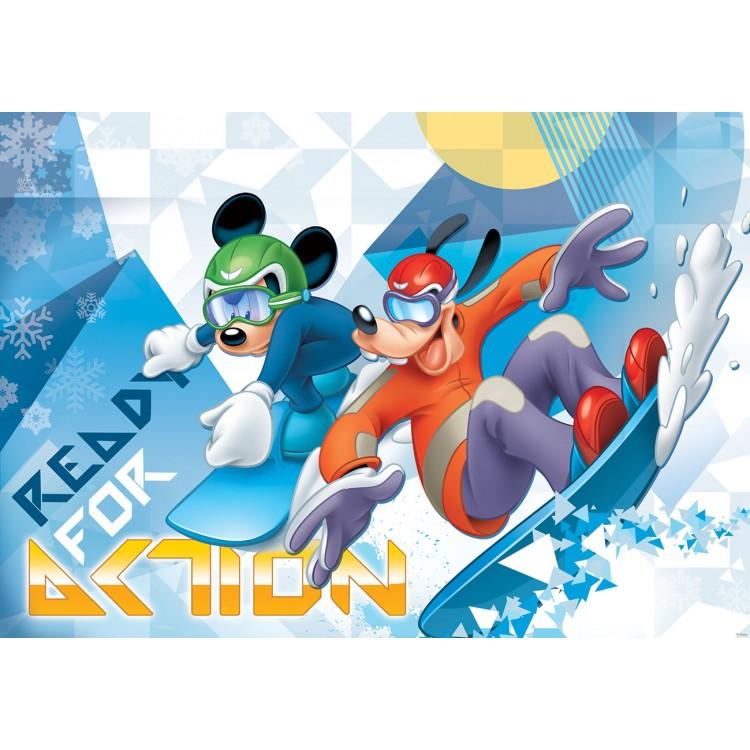 Fototapet Mickey & Goofy iarna 1259